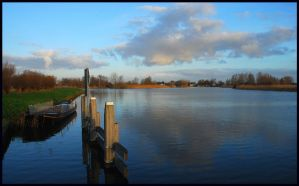 December morning at the Vecht by jchanders
