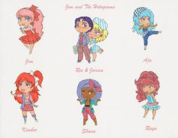 Jem chibis set 1! by Jovian-Mako