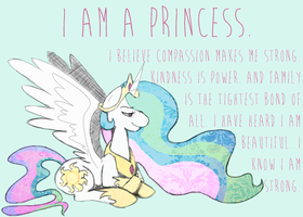 Celestia . I Am a Princess by rhodecyl