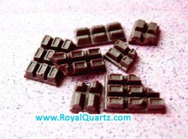 Miniature Brown Chocolate Bars by royalquartz