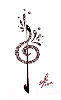 Treble Clef Tattoo by YLimes