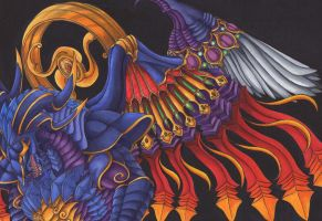 Bahamut - King of Dragons (FFX) by Ganjamira