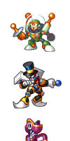 "MegaMan ""Sprites""-All the King's Men by WaneBlade"