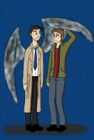 Dean and Cas by TheLilAlien