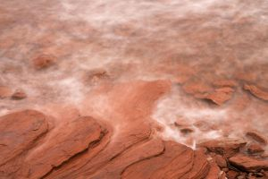 Abstract Red Sandstone Coast by somadjinn