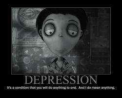 Depression Motivational Poster by QuantumInnovator