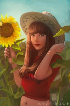 Sunflower girl by Na1t