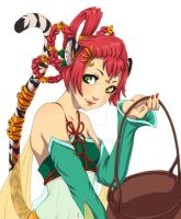 Tiger Girl for New Year by anjiro