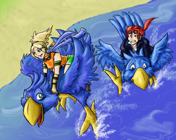 Blue Chocobos ARE Better by Nanashigriff