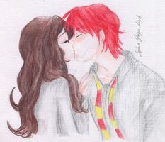 Ron's kiss by SophiaGL