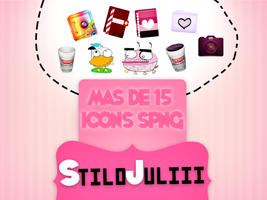 Pack Icons PNG Cuutes StiloJuliii by StiloJuliii