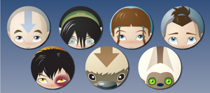 Avatar: The Last Airbender Button Set by Sareidia