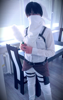 SnK: Levi cleaning cosplay 6 by themuffinshota