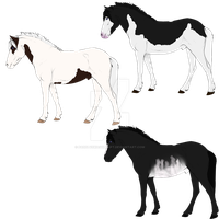 horse adopt batch by MasqueradeFirefly