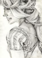 Rapunzel final B/W (Cloudninja9) by YannWeaponX