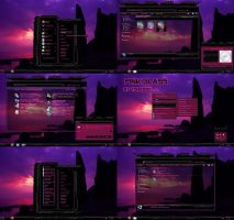 windows 7 theme pink glass center menu by tono3022