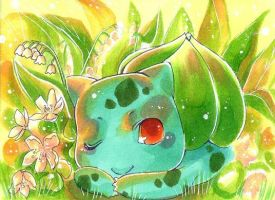 Bulbasaur by whitelapin