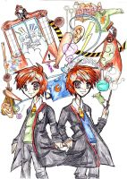 Weasley Twins by rachitick