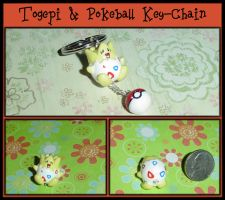 Togepi and Pokeball Keychain by YellerCrakka