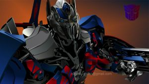 Optimus Prime In Vector by sayaibrahims