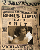 Remus Lupin Eats Shit by minervamoon