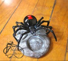 Black Widow Tea light Candle Holder by NadilynBeato