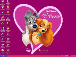 Second Lady and Tramp Desktop by PharaohAtisLioness