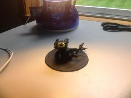 Cute little Chibi Toothless Figure by JessicaBane501
