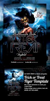 Trick or Treat Hallowen Flyer Template by mrkra