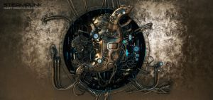 Steam punk stomach module by Ociacia