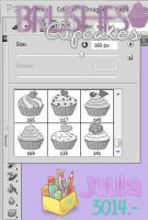 Brushes Cupcakes - By: Juula3014. by Juula3014