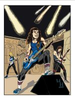 Iron Maiden 85' in color by introvertedart