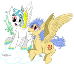Hailstorm Spin and Cherry Chirp :ART TRADE: by Ruby-Orca-616
