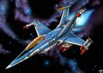 Sabrefalcon SF-61 Fighter by Artraccoon