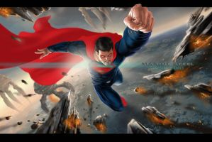 MAN OF STEEL by earache-J