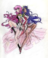 Utena and Anthy movie version by Lady-Butterfly19