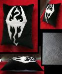 Skyrim Pillow by TheCurseofRainbow