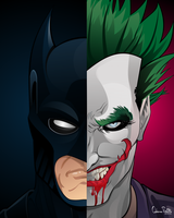 Batman x Joker by drifith