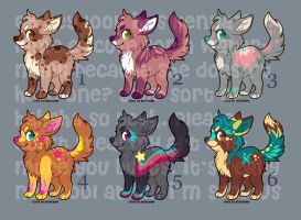 Adoptable Puppies 1 - CLOSED by Kennadee