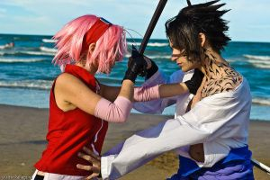 SasuSaku fight by Eyes-0n-Me