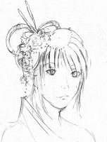 Asian girl sketch by star-stickies