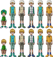 Takeru Takaishi all outfits in Pixel by Deco-kun