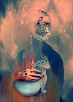 Lady with an ermine by alterlier