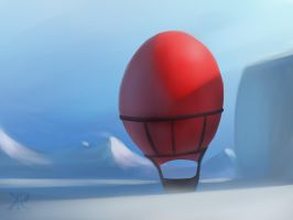 Red Ballon in the Artic by Raikoh-illust