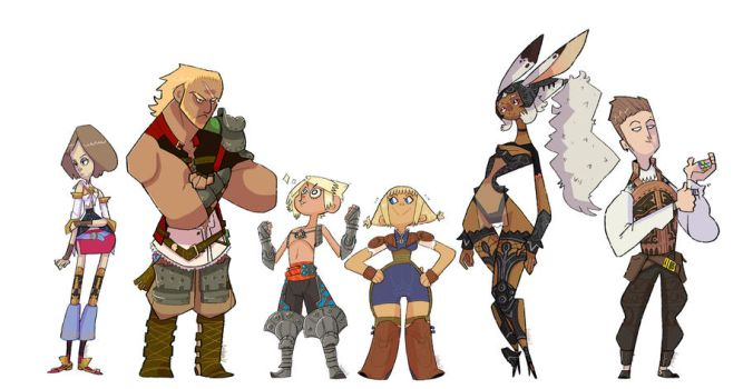 Final Fantasy 12 line up by creatorofall