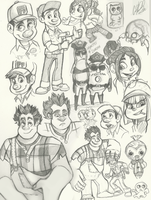 Wreck it Ralph Sketches by NillaKiwi