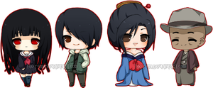Hell Girl mini chibi set by markeu