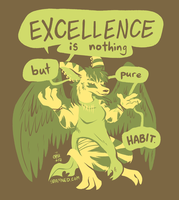 Excellence Is Nothing But Pure Habit by raizy