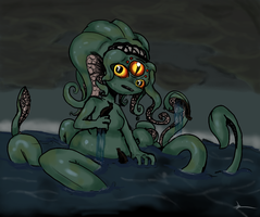Sea Monster Girl by OrganicGranite