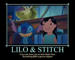 Lilo and Stitch's rape face by spyash2